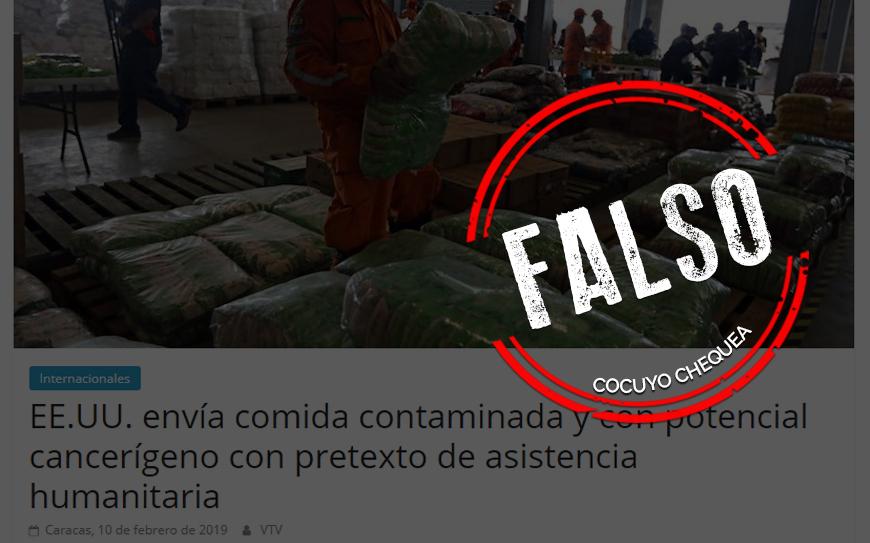 ¿Está contaminada la ayuda humanitaria que llega a Venezuela?