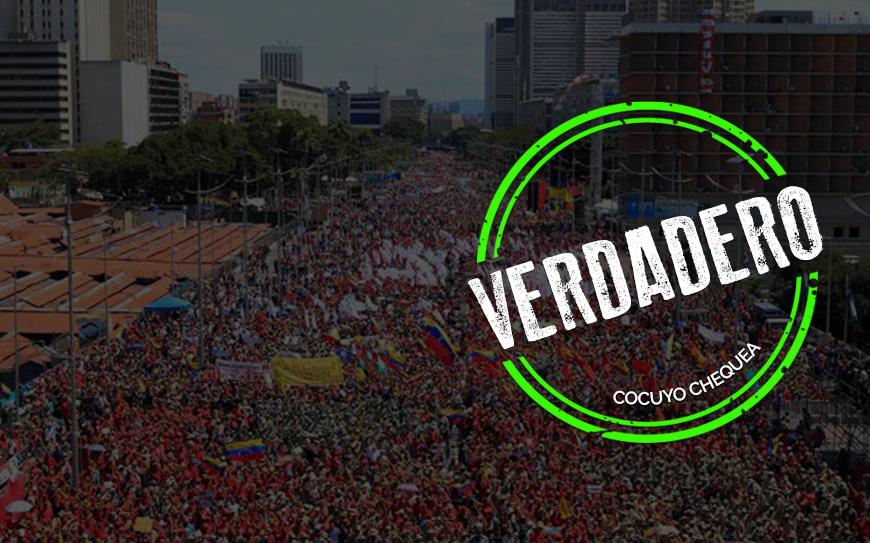 La verdad sobre la foto de la concentración chavista del #2Feb