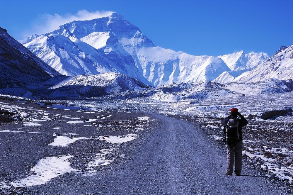 Monte Everest en el centro de la Tierra