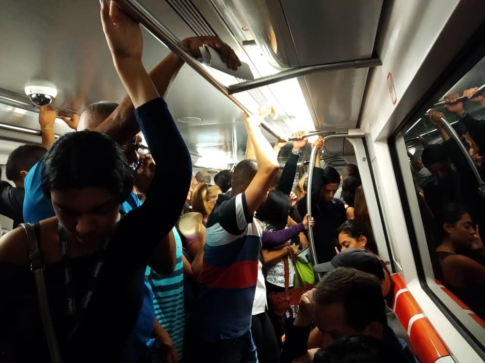La California-Metro de Caracas-Vía Única Temporal