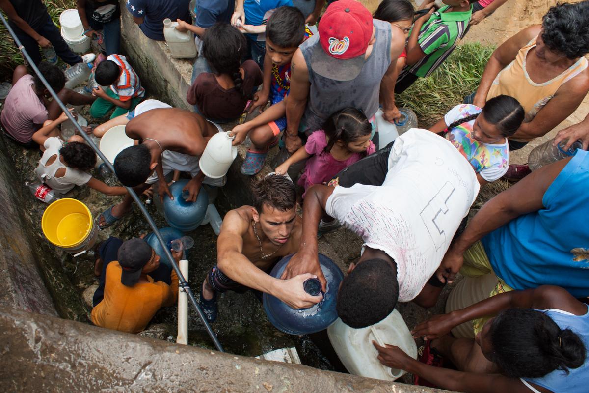 Crisis de agua, caos