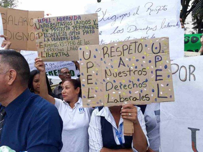 Pedagógico-22.05.19 Protesta profesores universitarios UPEL La Urbina