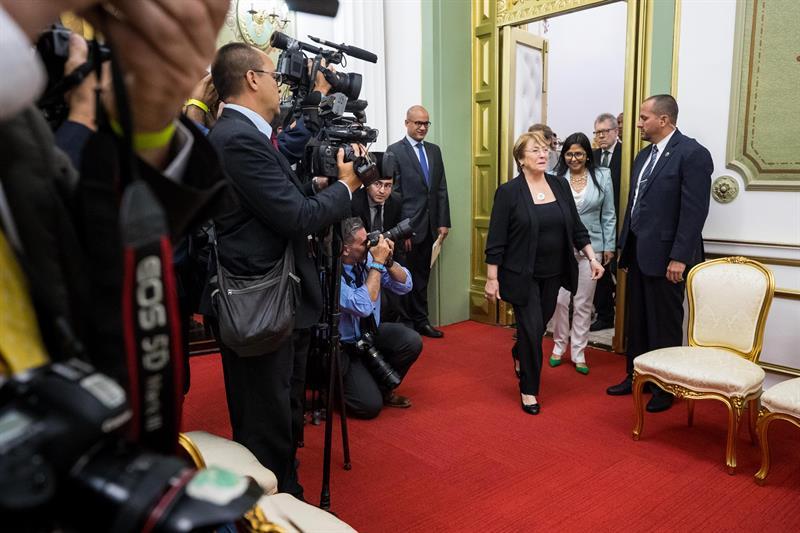 Maduro -Bachelet-Miraflores