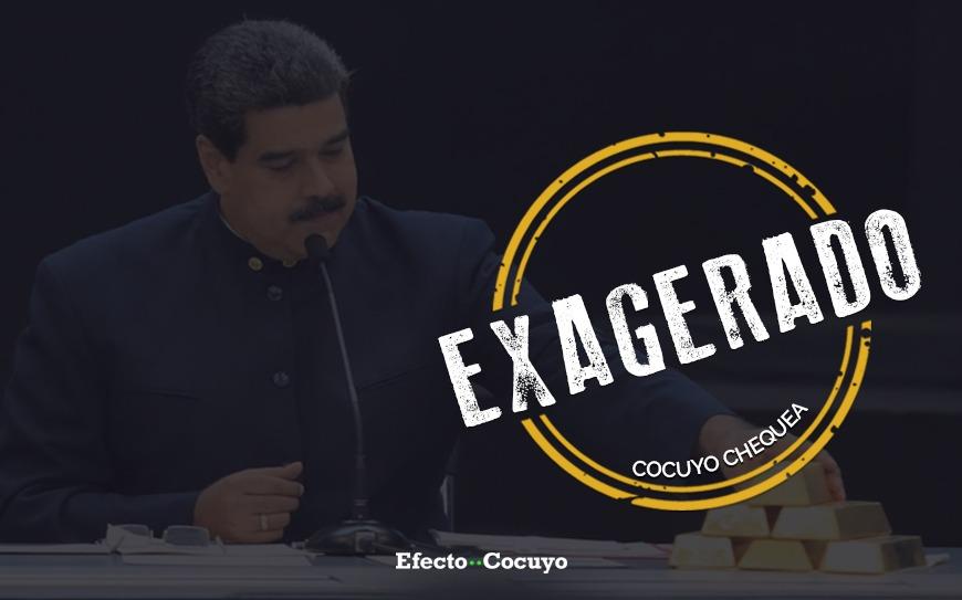 Exagerado cocuyo chequea Maduro minería oro