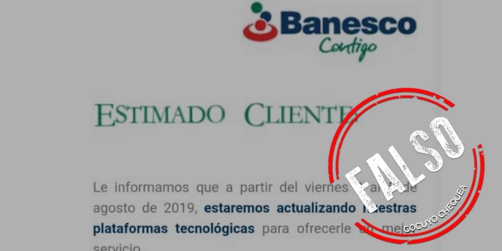 Es falso que Banesco Venezuela cierre sus agencias