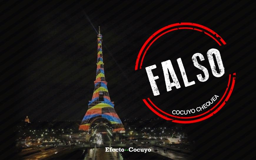 Es falso el homenaje a Cruz-Diez en la Torre Eiffel