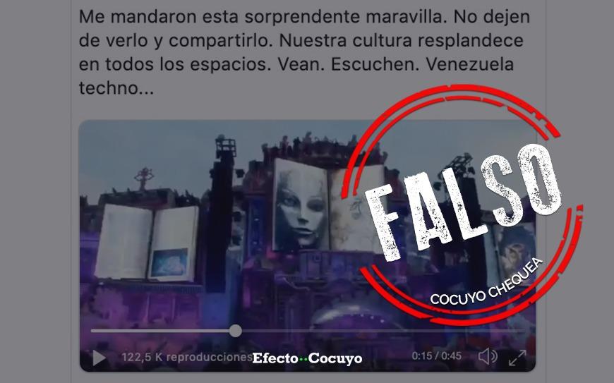 Es falso el video de la canción Venezuela en Tomorrowland