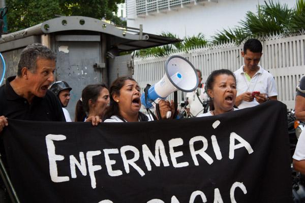 protesta enfermeras paro nacional