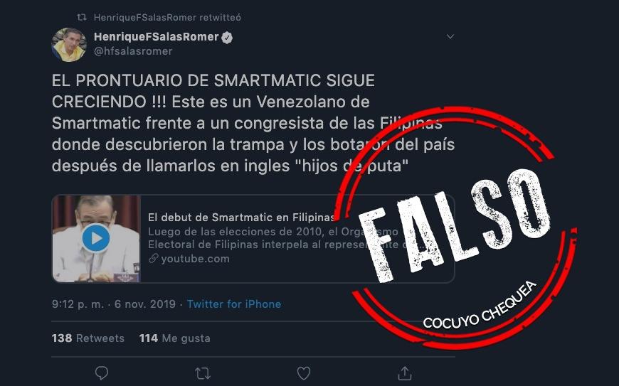 ¿Smartmatic fue expulsada de Filipinas?