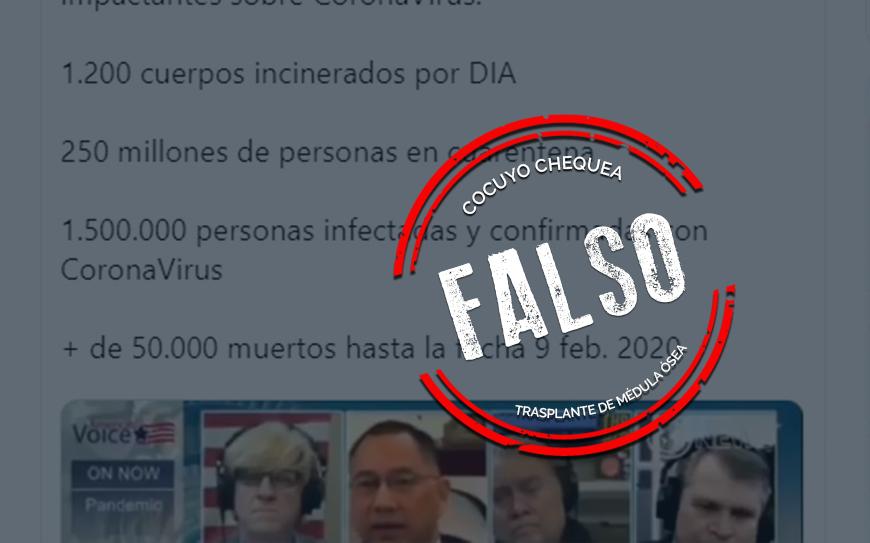Es falso que 1 millón 500 mil personas estén infectadas por coronavirus #datoscoronavirus