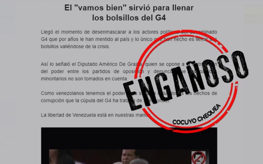 Grupo parlamentario de Luis Parra difunde contenido engañoso por correo