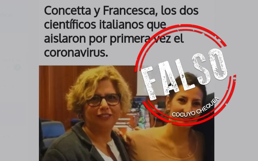 Científicas italianas no fueron las primeras en aislar el coronavirus en Europa #Datoscoronavirus