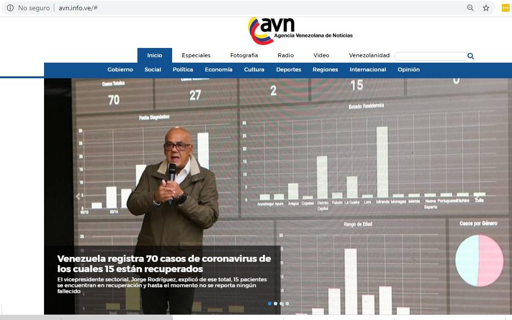 Coronavirus llega ya a 14 estados de Venezuela