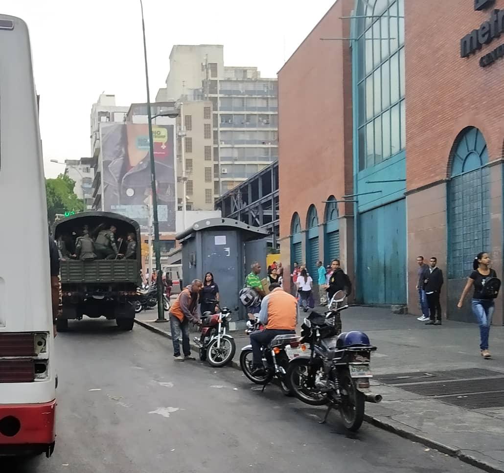 Despliegue militar en el centro de Caracas este 10 de marzo