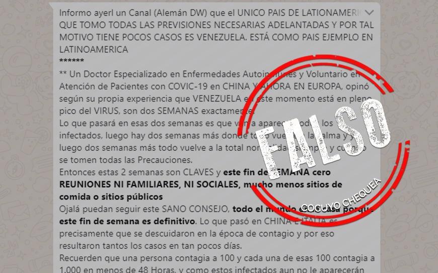 ¿Venezuela es el único país que tomó medidas adelantadas contra el COVID-19?