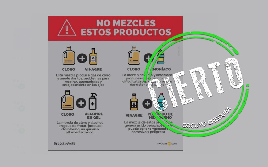 ¿Cuáles son los productos de limpieza que no se deben mezclar?