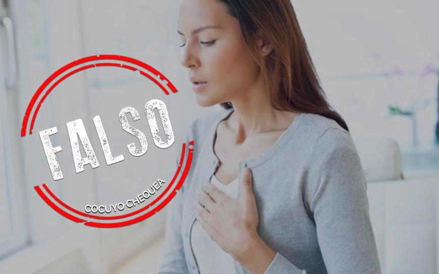 ¿Sostener la respiración por 10 segundos ayuda a identificar el COVID-19?