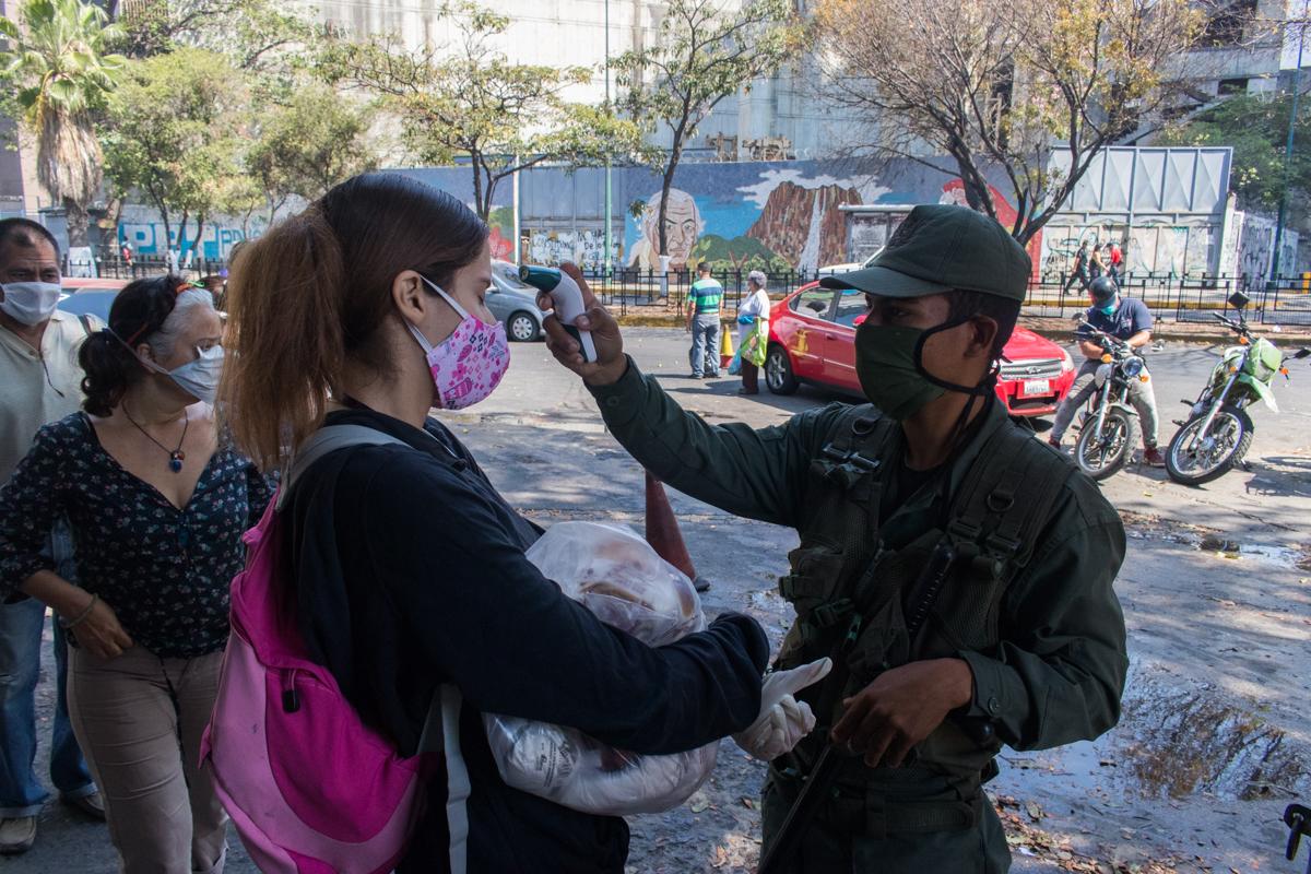 Venezuela chequeo de temperatura