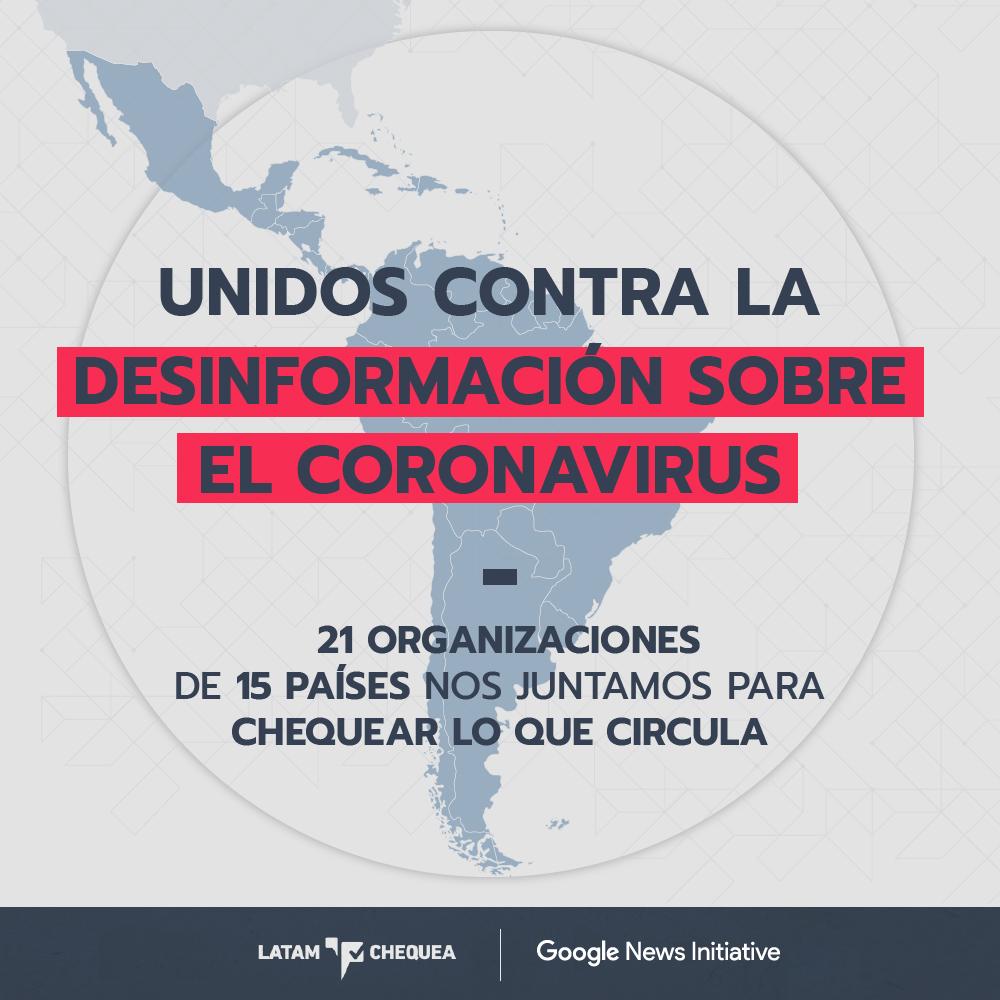"""20 organizaciones de fact-checking de Latinoamérica se unieron para verificar información sobre el Coronavirus y lucha contra la """"infodemia"""""""