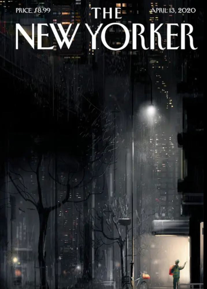 Repartidor, tema de la portada de The New Yorker