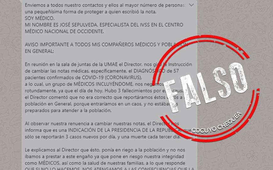 ¿Se ordenó cambiar diagnósticos de COVID-19 en Venezuela?