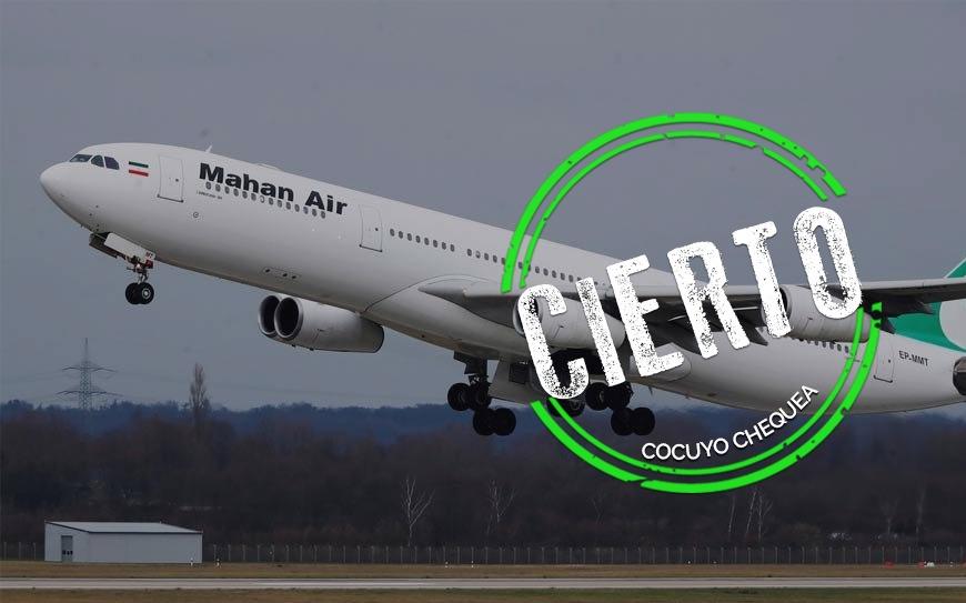 ¿Aterrizaron dos aviones iraníes en Falcón durante la cuarentena?
