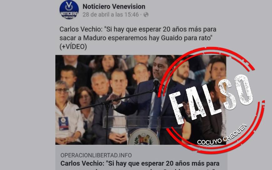 """¿Carlos Vecchio declaró que """"si hay que esperar 20 años para sacar a Maduro, esperaremos""""?"""