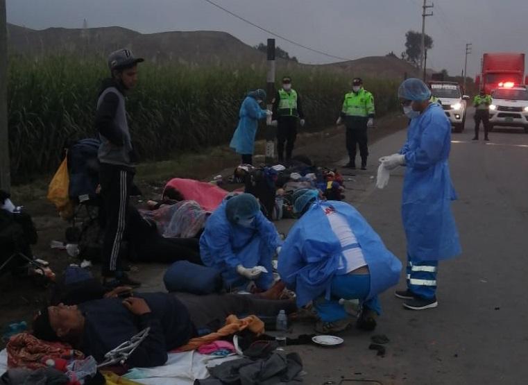 Arrollados en Lima