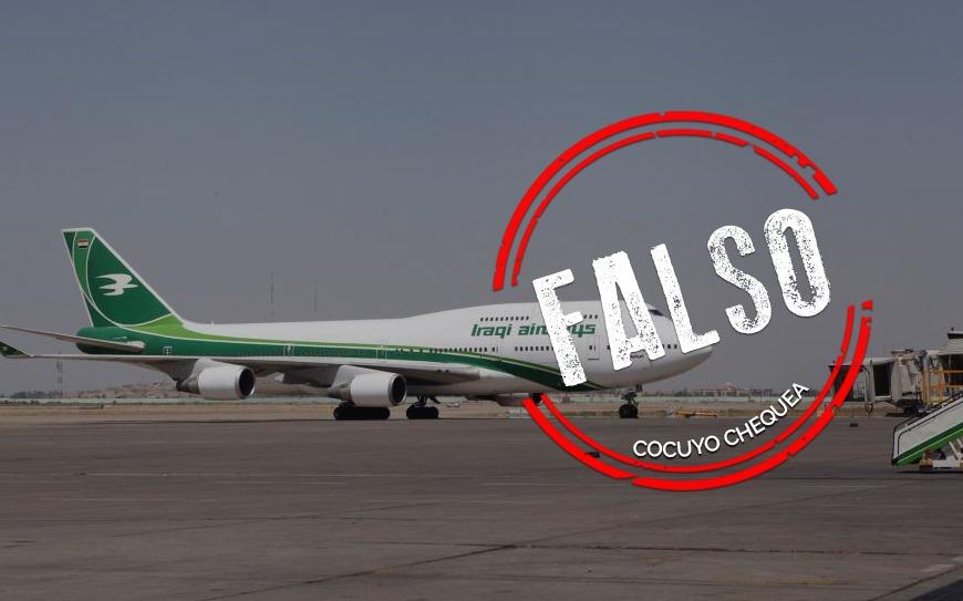 ¿Comando Sur derribó un avión iraquí con 700 kilos de oro de Venezuela?