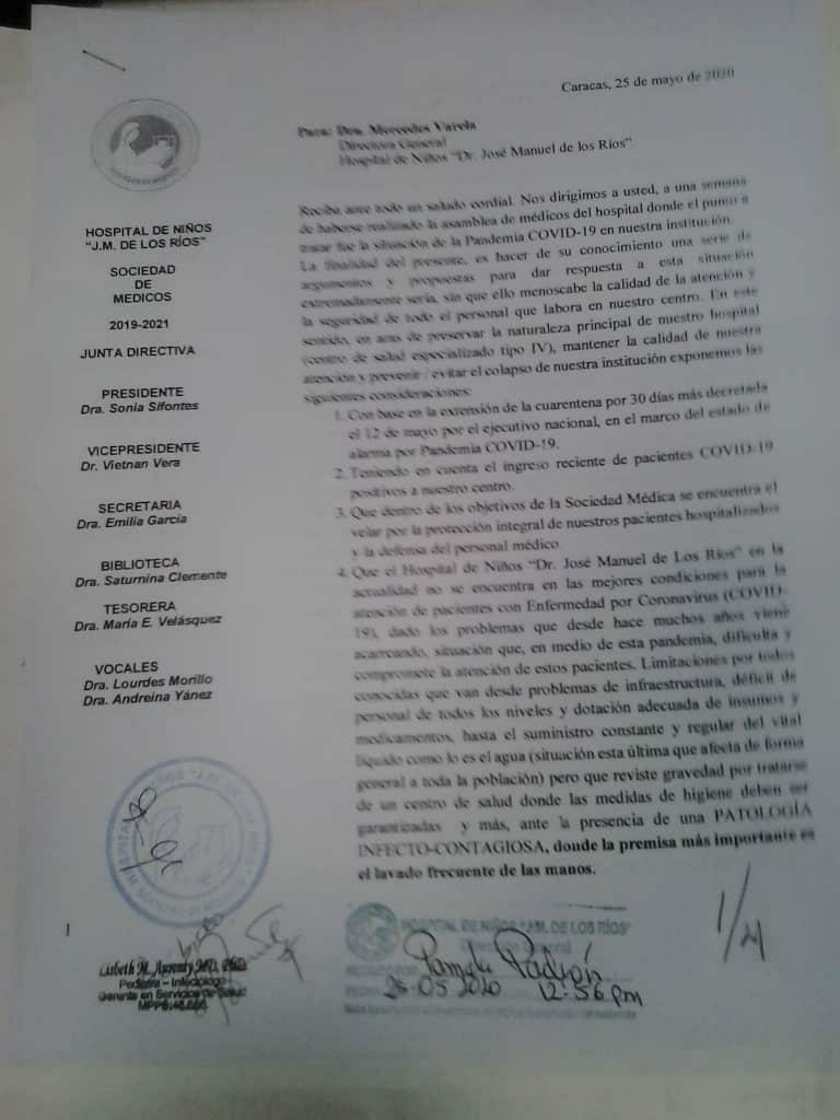 Personal del JM de los Ríos exige condiciones óptimas para recibir niños con COVID-19