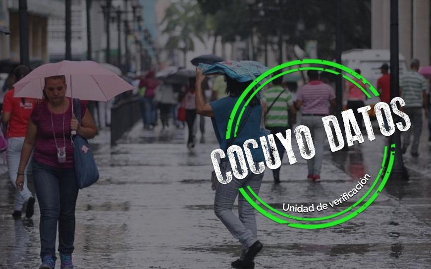 Lluvias durante junio en Caracas superaron el promedio histórico de precipitaciones