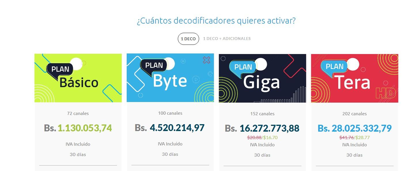 Simple TV publica nuevos precios de sus tarifas en Venezuela - Efecto Cocuyo