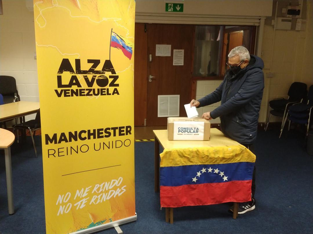 Venezolanos en Reino Unido respaldaron la consulta popular