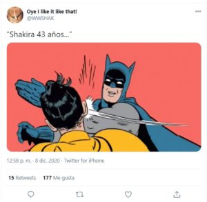 EEl meme de la semana: Shakira es tendencia por su nueva canción y la artista más buscada en EEUU en 2020