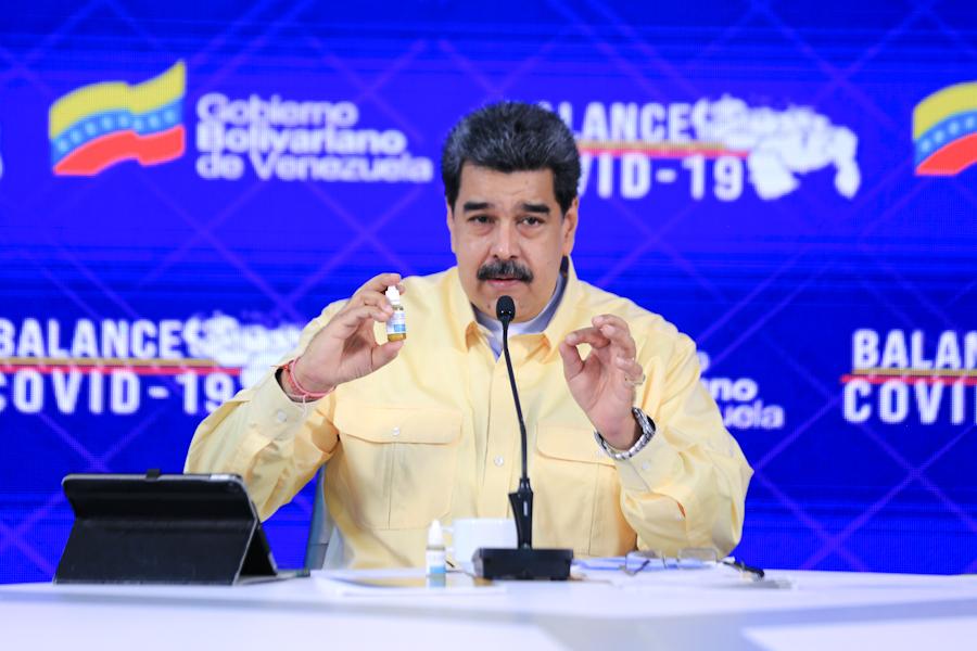 """Maduro presenta el Carvativir, las """"goticas de José Gregorio Hernández"""" contra el COVID-19"""