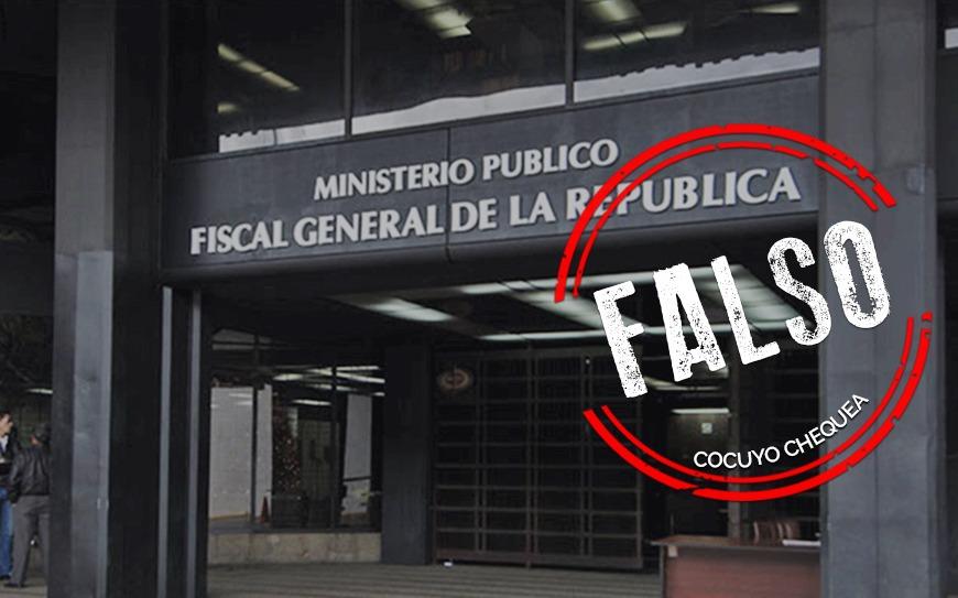 ¿El Ministerio Público envía por email citaciones por malversación de fondos?