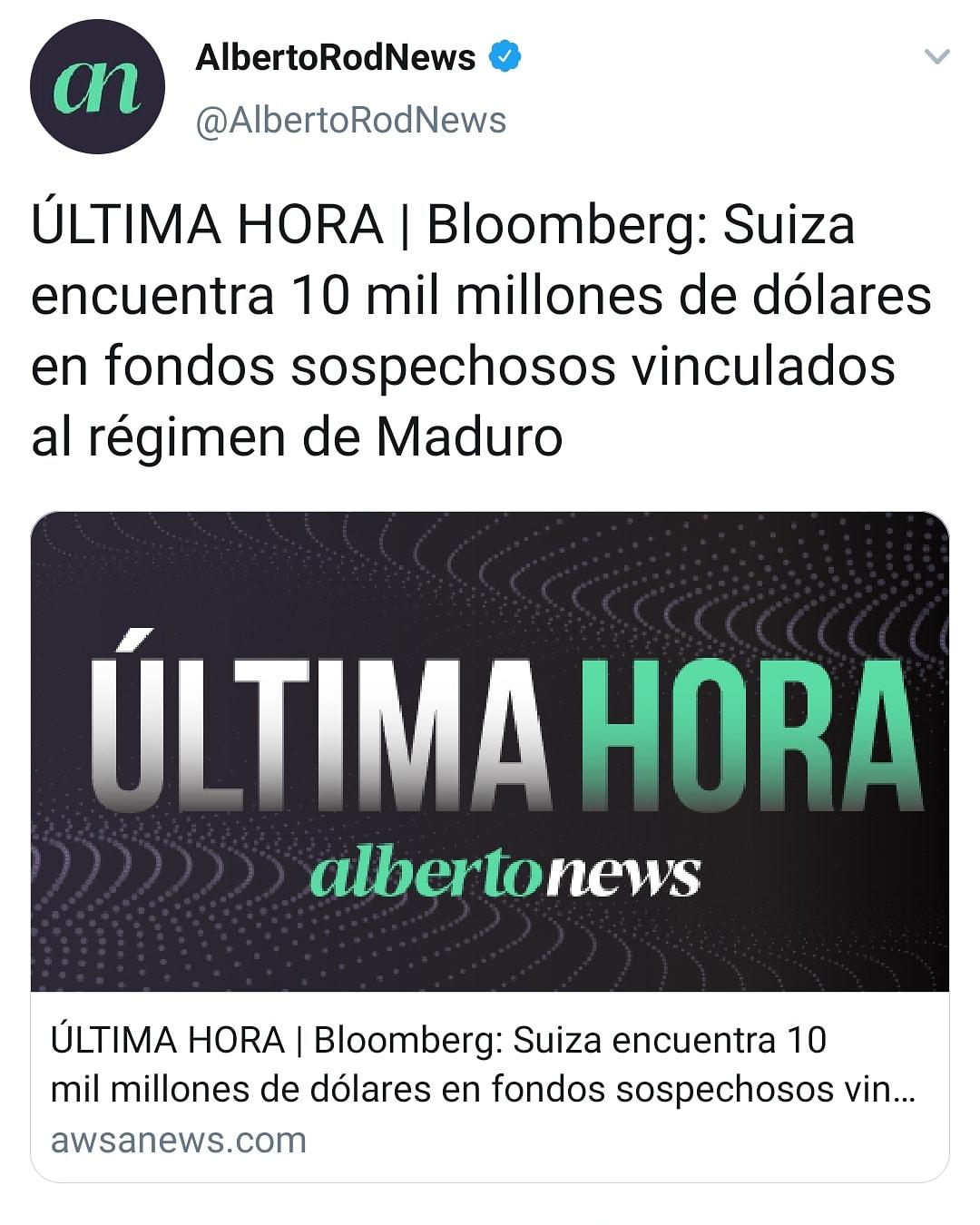 ¿Suiza encontró $10.000 millones en fondos sospechosos vinculados al gobierno de Maduro?