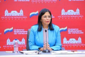 Delcy Rodríguez rechaza declaraciones de vicepresidenta colombiana sobre diálogo en México