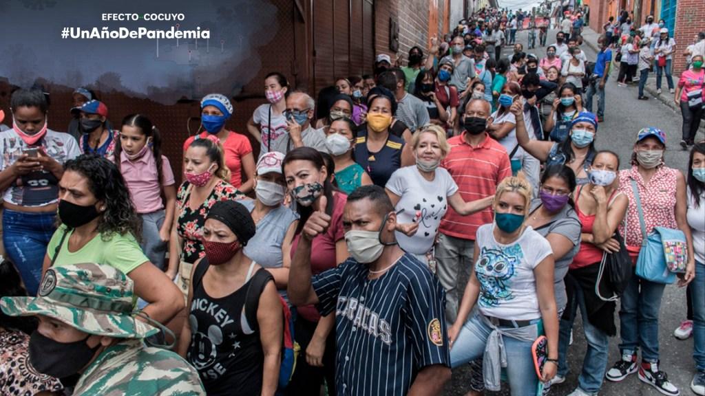 Un año de anuncios oficiales sobre la pandemia en Venezuela- desigualdad