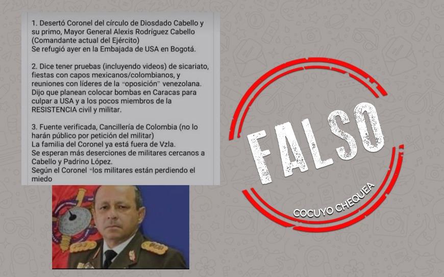 ¿Alexis Rodríguez Cabello desertó y se refugió en Colombia?