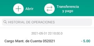 Facebank Mantenimiento de Cuenta