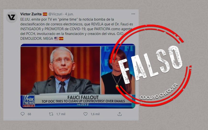 """¿Correos electrónicos revelan que Anthony Fauci fue """"promotor"""" del COVID-19?"""