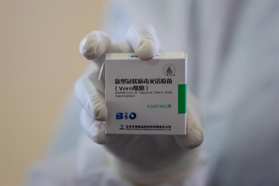 Así se ve el empaque o caja de las vacunas | Foto: EFE