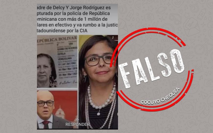 ¿Madre de Delcy y Jorge Rodríguez fue detenida en República Dominicana?