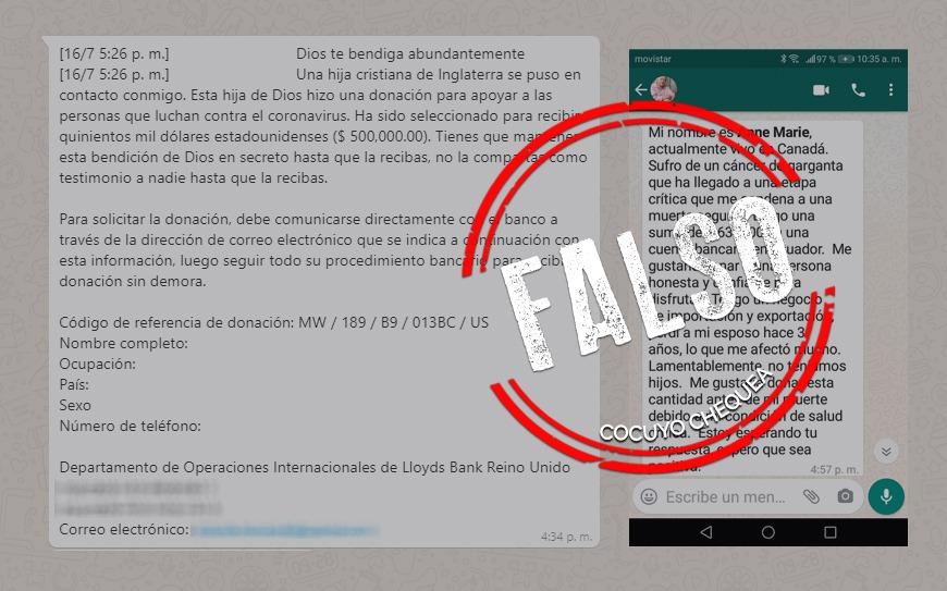 ¿Personas ofrecen donar miles de euros o dólares a desconocidos por mensaje de texto?