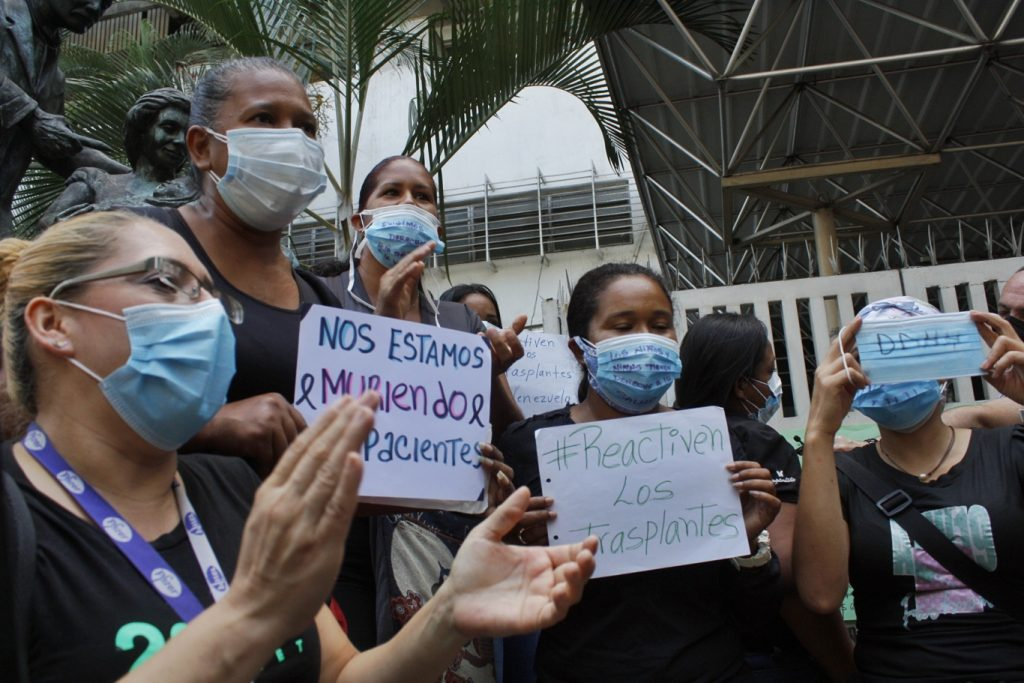 Madres del servicio de Hematología también protestaron   Foto: Efecto Cocuyo