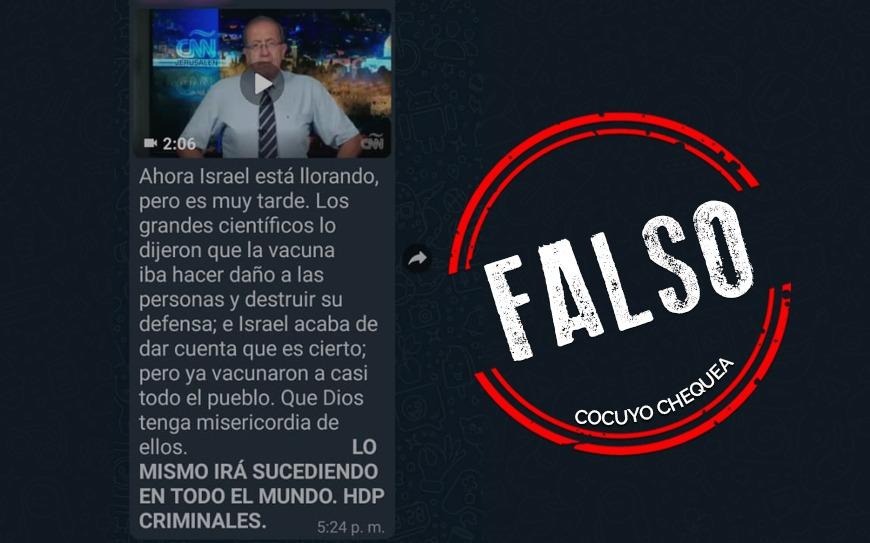 """¿Autoridades de Israel están preocupadas porque la vacuna contra COVID-19 va """"a destruir sus defensas""""?"""