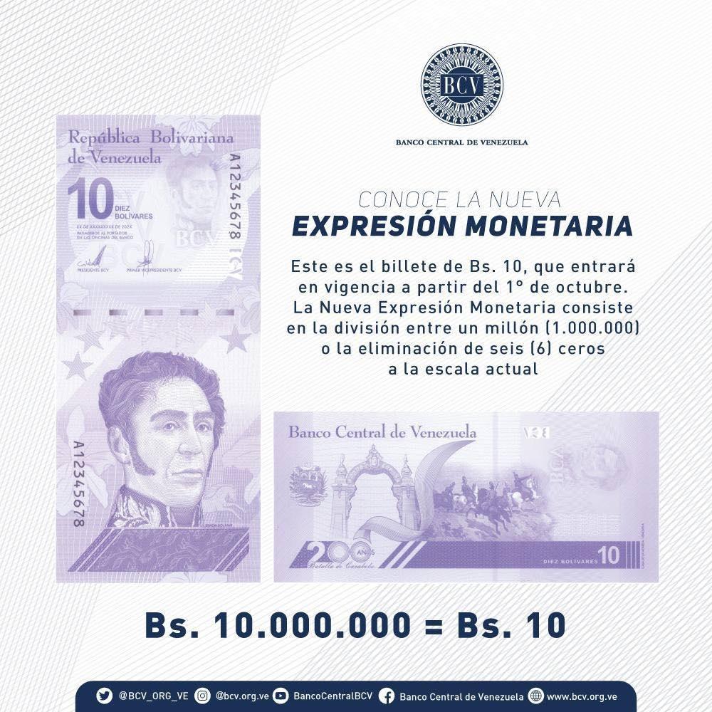 Billete de 10 bolívares