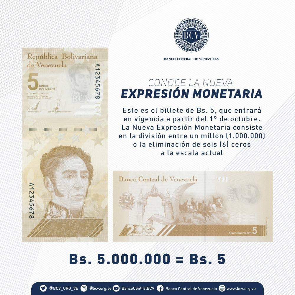 Billete de 5 bolívares
