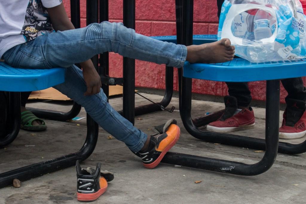 Los migrantes haitianos hicieron el recorrido a pie